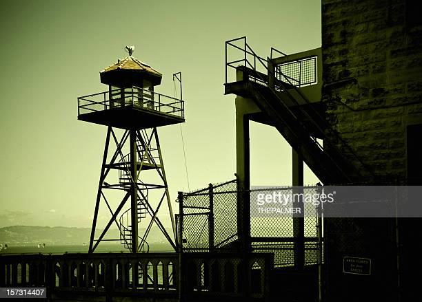 alcatraz tower - prison escape stock pictures, royalty-free photos & images