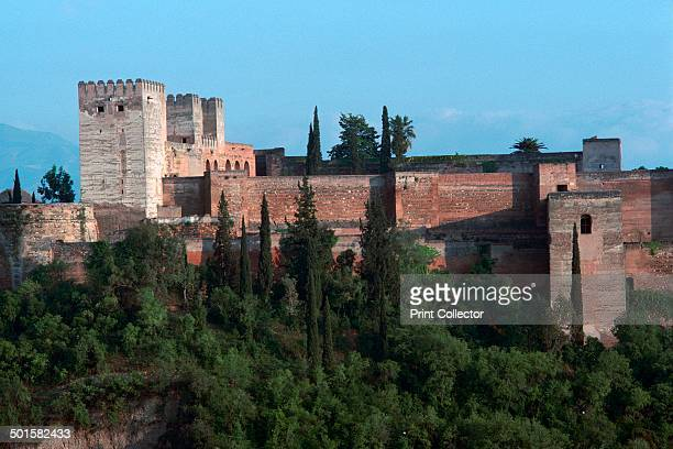 Alcazabar a Moorish fortress in Granada from the west 14th century