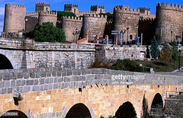 Alcazar and stone bridges, Avila, Spain