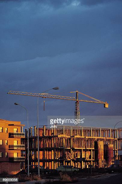 Alcazar de San Juan Ciudad Real A building of housings in construction to the outskirts of the city