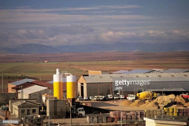 Alcazar de San Juan Ciudad Real Aerial view of the facilities and factories of the industrial area