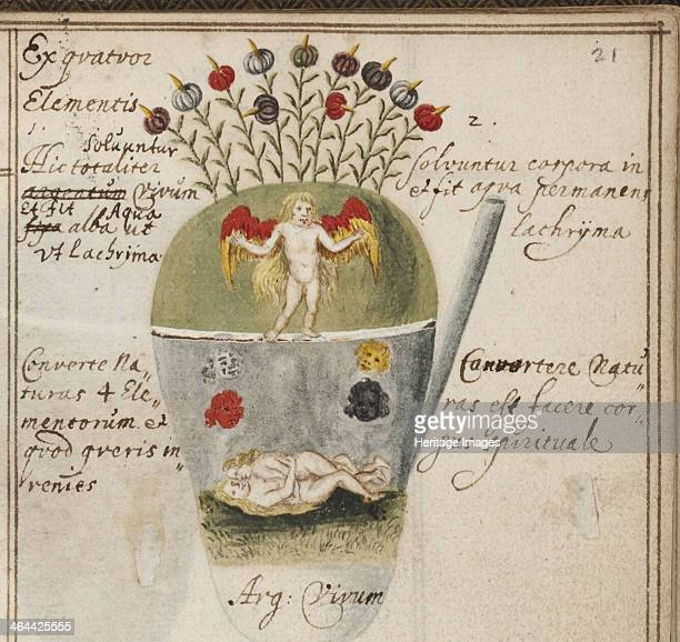 Alchemical notebook c 1620 Found in the collection of the Yale University