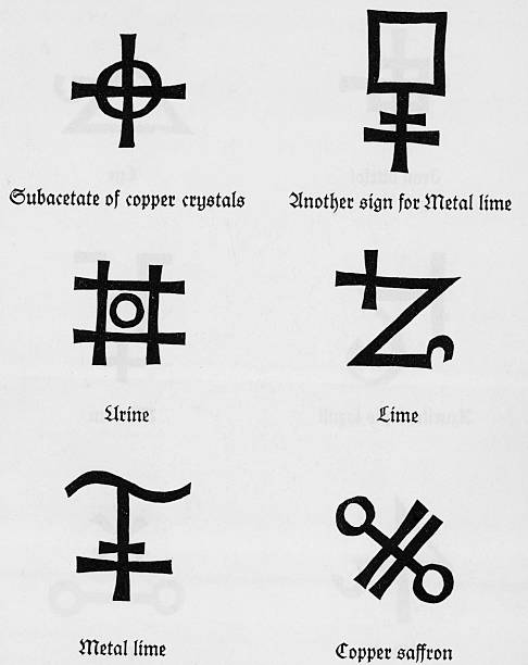 Alchemical Symbols For Metals Pictures Getty Images