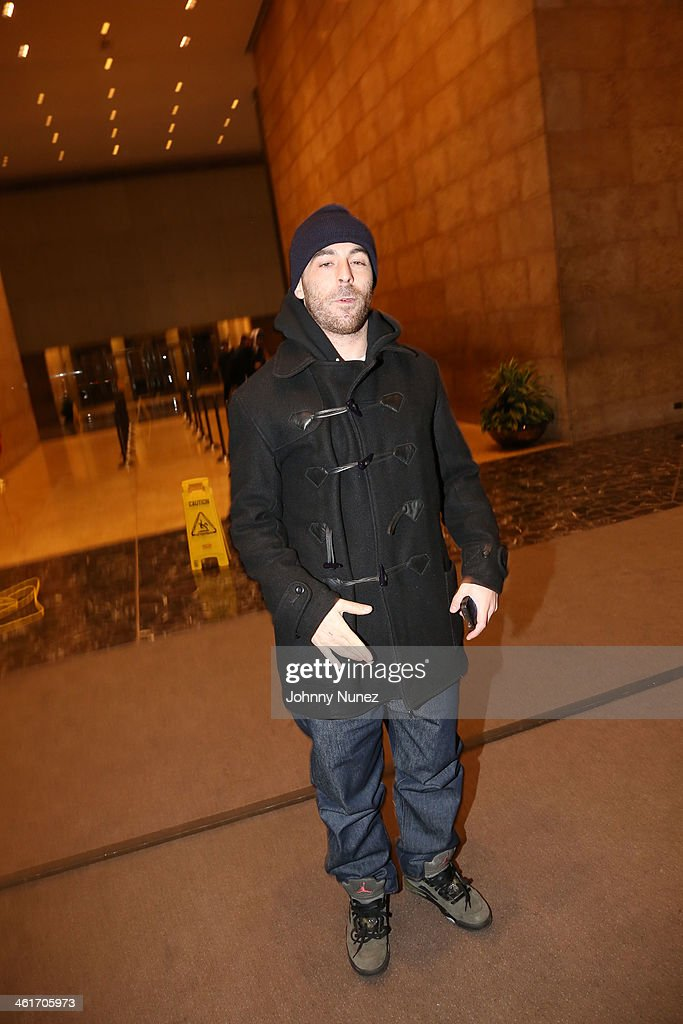 DJ Alchemist invades 'The Whoolywood Shuffle' at SiriusXM Studios on January 9, 2014 in New York City.