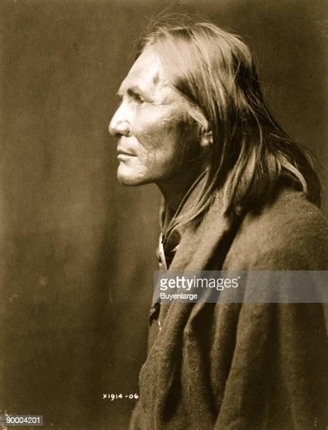 Alchise Apache Indian halflength portrait left profile