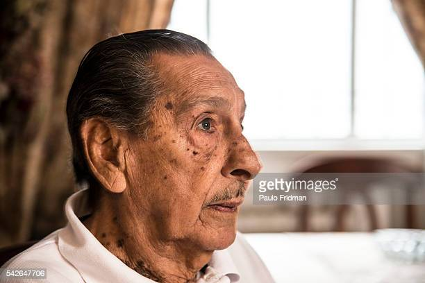 Alcides Edgardo GHIGGIA know for the goal that gave Uruguay the soccer championship in 1950 Brazil at the TenField office in Montevideo Uruguay on...