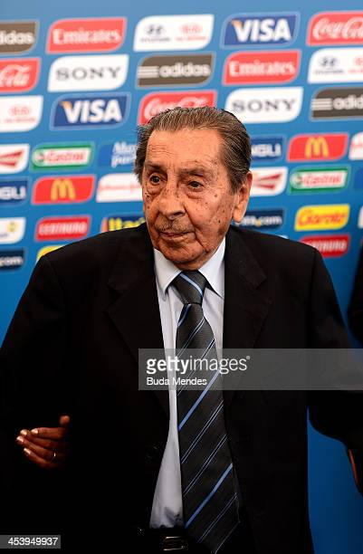 Alcides Ghiggia during the Final Draw for the 2014 FIFA World Cup Brazil at Costa do Sauipe Resort on December 6 2013 in Costa do Sauipe Bahia Brazil
