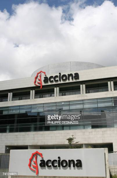 Pictures taken 29 April 2007 at the headquarters of Spanish public works company Acciona in Alcobendas near Madrid Acciona's results given 10 May...