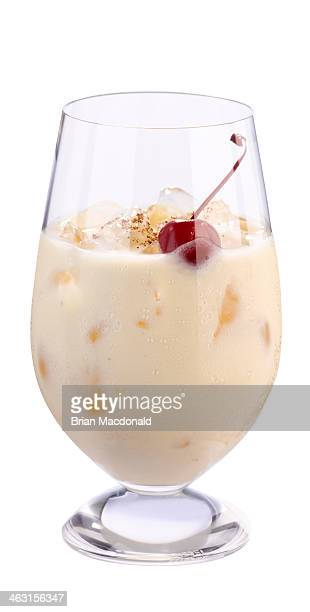 alcohol cocktail - eggnog stock photos and pictures