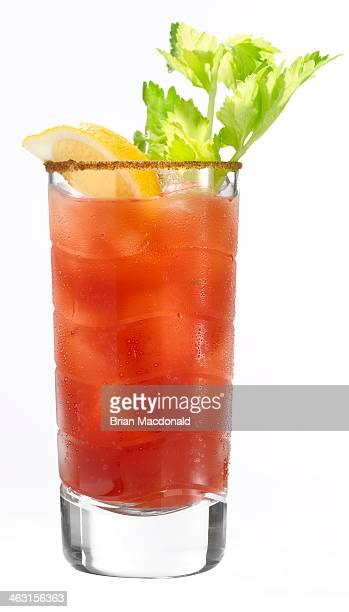 alcohol cocktail - bloody mary stock photos and pictures