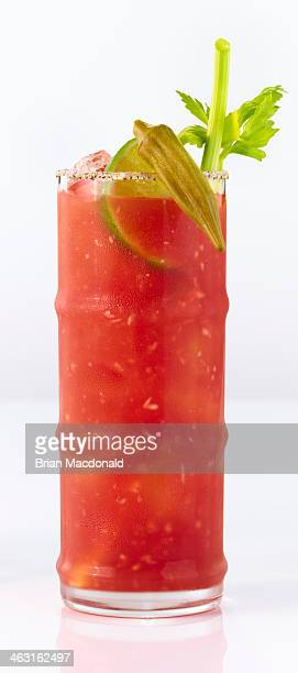 alcohol cocktails - bloody mary stock photos and pictures