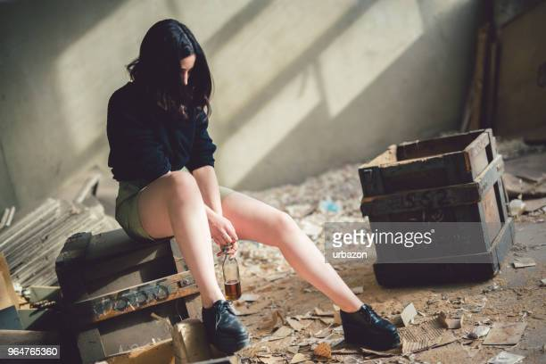 alcohol fueled melancholy - beautiful bare bottoms stock pictures, royalty-free photos & images