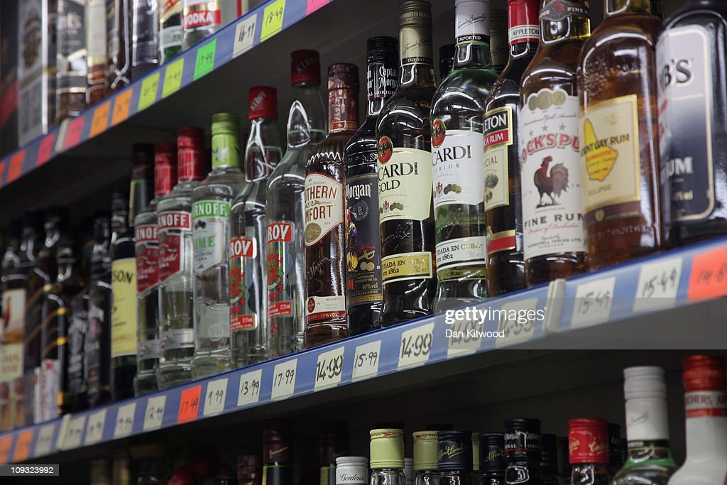 The Government's Minimum Alcohol Pricing Plans : News Photo