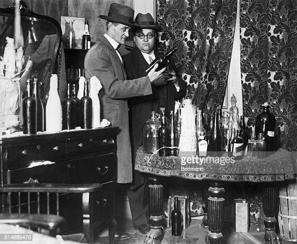 Alcohol raid on a speakeasy 1926