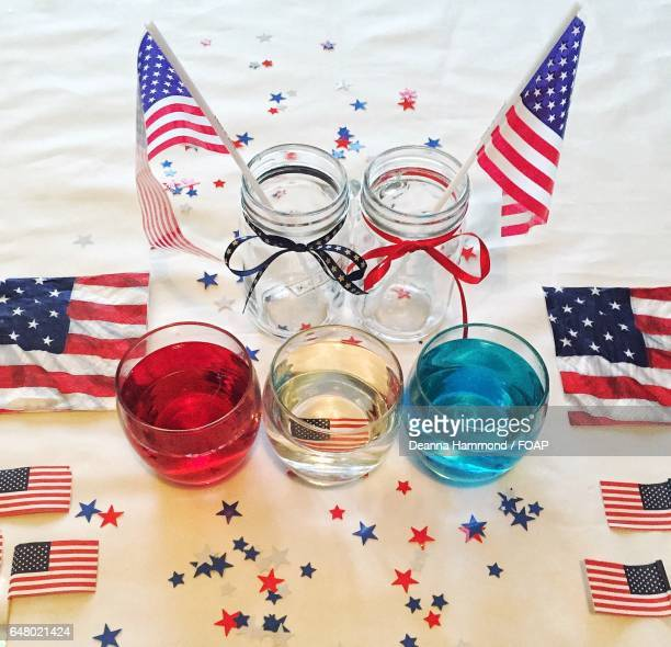 Alcohol with American flag