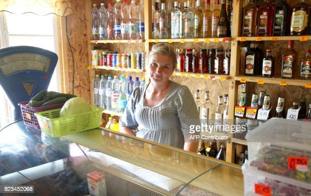 Alcoholic drinks are for sale in a store in the village of Debeikiai on July 30 2015 The small Baltic state is known for being one of the world's...