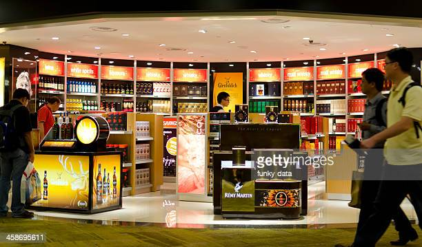 Alcoholic drinks duty free shop in Singapore Airport