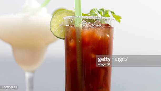 alcoholic drinks - bloody mary stock photos and pictures
