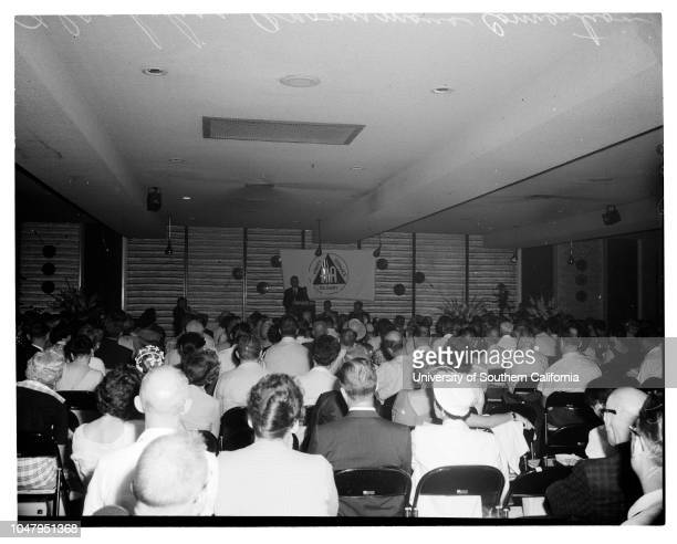 Alcoholics Anonymous convention at Lafayette Hotel July 1 1960 General views et ceteraJohn M Murtagh Caption slip reads 'Photographer Olmo Reporter...
