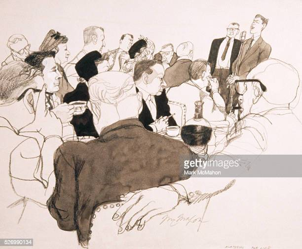 Alcoholics Anonymous Meeting at Chicago Restaurant by Franklin McMahon
