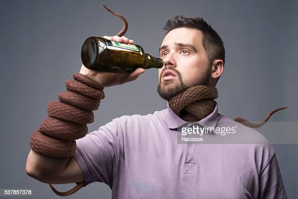 alcoholism concept