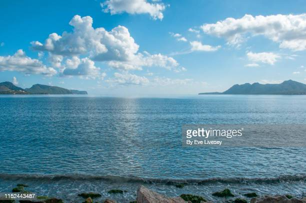 alcudia bay - cumulus stock pictures, royalty-free photos & images