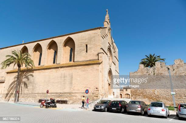 Alcudia, Mallorca, Spain. The parish Church of Sant Jaume in neo Gothic style and dates from 1893 in the center of Alcudia.