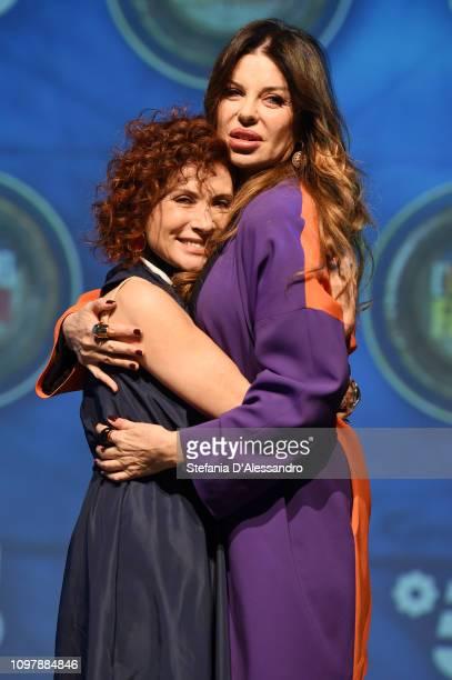 Alda D'Eusanio and Alba Parietti attend 'L'Isola Dei Famosi 2019' photocall on January 22 2019 in Milan Italy