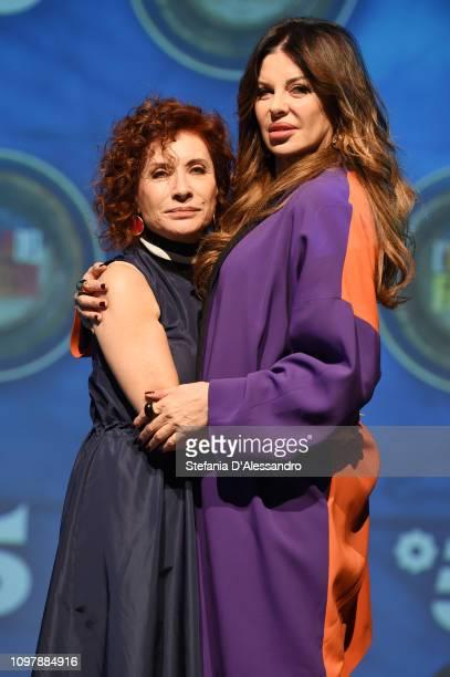 Alda D'Eusanio and Alba Parietti attend L'Isola Dei Famosi 2019 photocall on January 22 2019 in Milan Italy