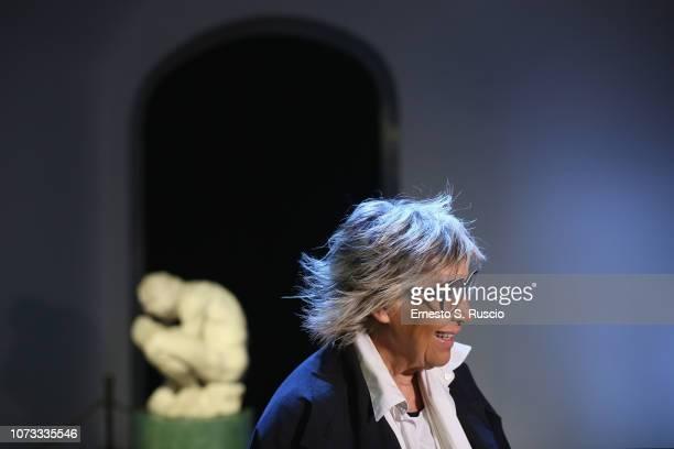Alda Fendi attends Fondazione Alda Fendi Esperimenti L'Adolescente by Michelangelo from The State Hermitage Museum on December 14 2018 in Rome Italy