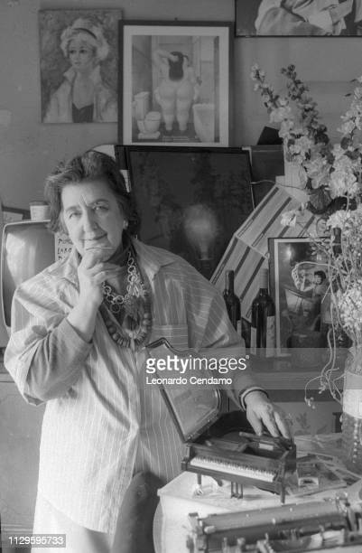 Alda Merini Italian poet and writer Bari Italy April 1995