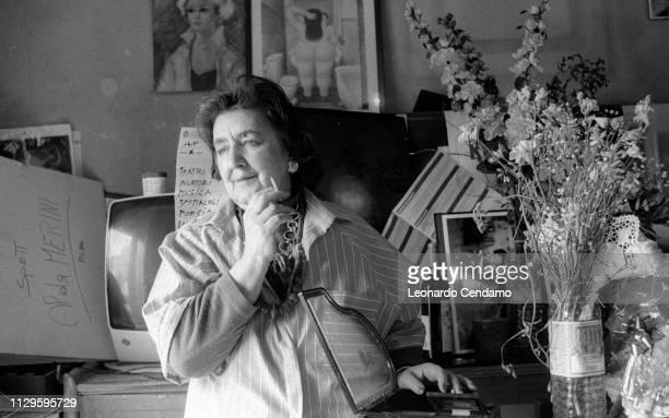 Alda Merini Italian poet and writer Mantova Italy April 1995