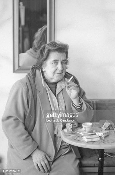 Alda Merini Italian poet and writer Milan Italy April 1995