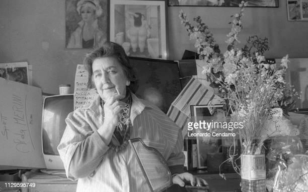 Alda Merini Italian poet and writer NardÚ Italy April 1995