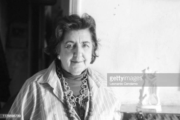 Alda Merini Italian poet and writer Nardo' Italy April 1995