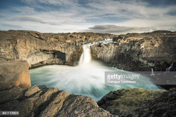 Aldayjarfoss Waterfall in Iceland.