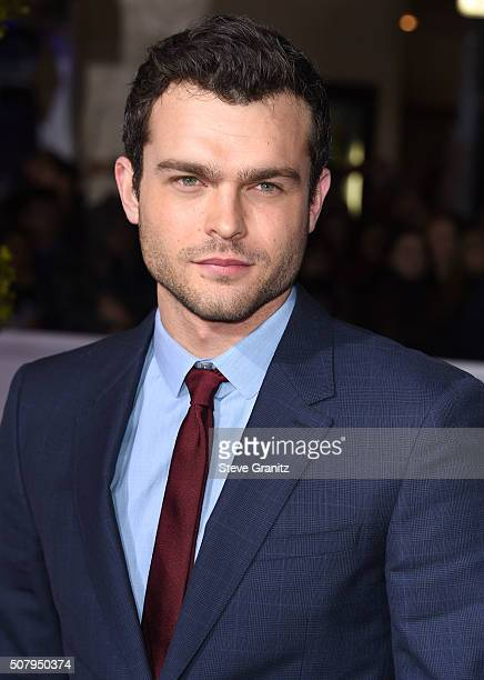 Alden Ehrenreich arrives at the Premiere Of Universal Pictures' Hail Caesar at Regency Village Theatre on February 1 2016 in Westwood California