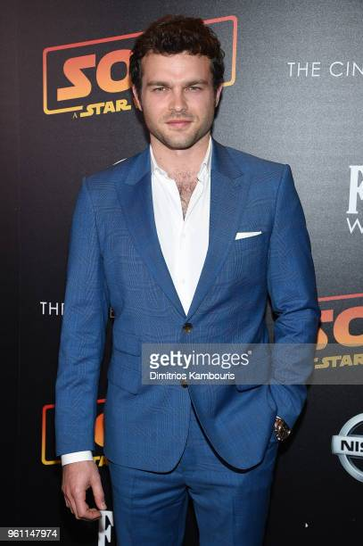 Alden Ehrenreich attends a screening of 'Solo A Star Wars Story' hosted by The Cinema Society with Nissan FIJI Water at SVA Theater on May 21 2018 in...