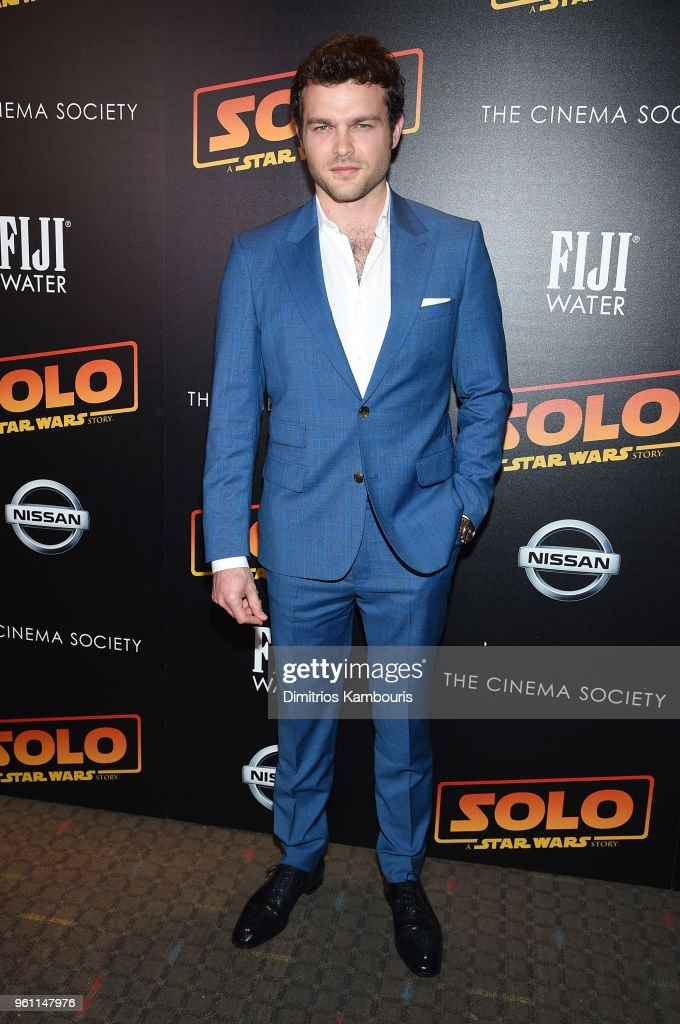 Alden Ehrenreich attends a screening of 'Solo: A Star Wars Story' hosted by The Cinema Society with Nissan & FIJI Water at SVA Theater on May 21, 2018 in New York City.