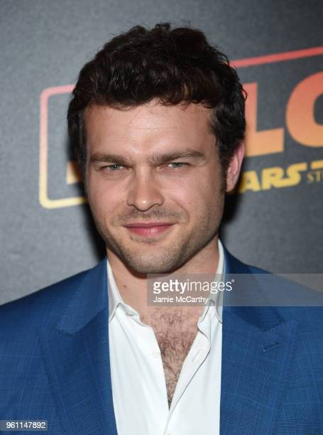Alden Ehrenreich attends a screening of 'Solo A Star Wars Story' New York Premiere on May 21 2018 in New York City