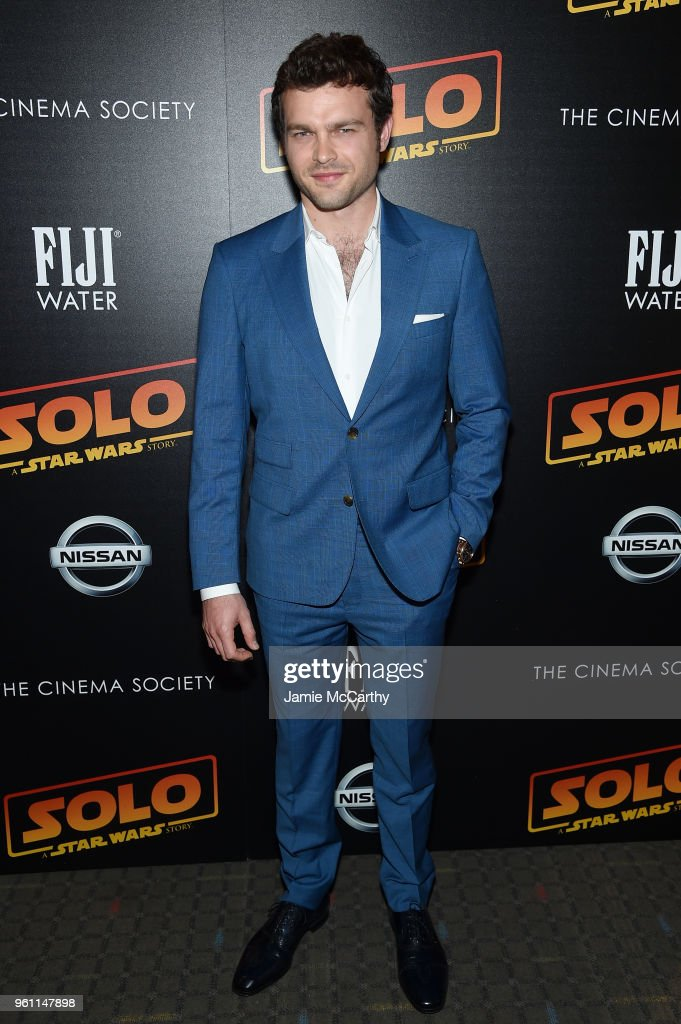 Alden Ehrenreich attends a screening of 'Solo: A Star Wars Story' New York Premiere on May 21, 2018 in New York City.