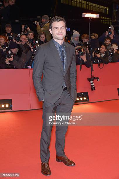 Alden Ehrenreich attends the 'Hail Caesar' premiere during the 66th Berlinale International Film Festival Berlin at Berlinale Palace on February 11...