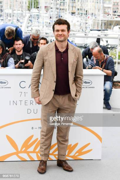 Alden Ehrenreich attends the photocall for 'Solo A Star Wars Story' during the 71st annual Cannes Film Festival at Palais des Festivals on May 15...
