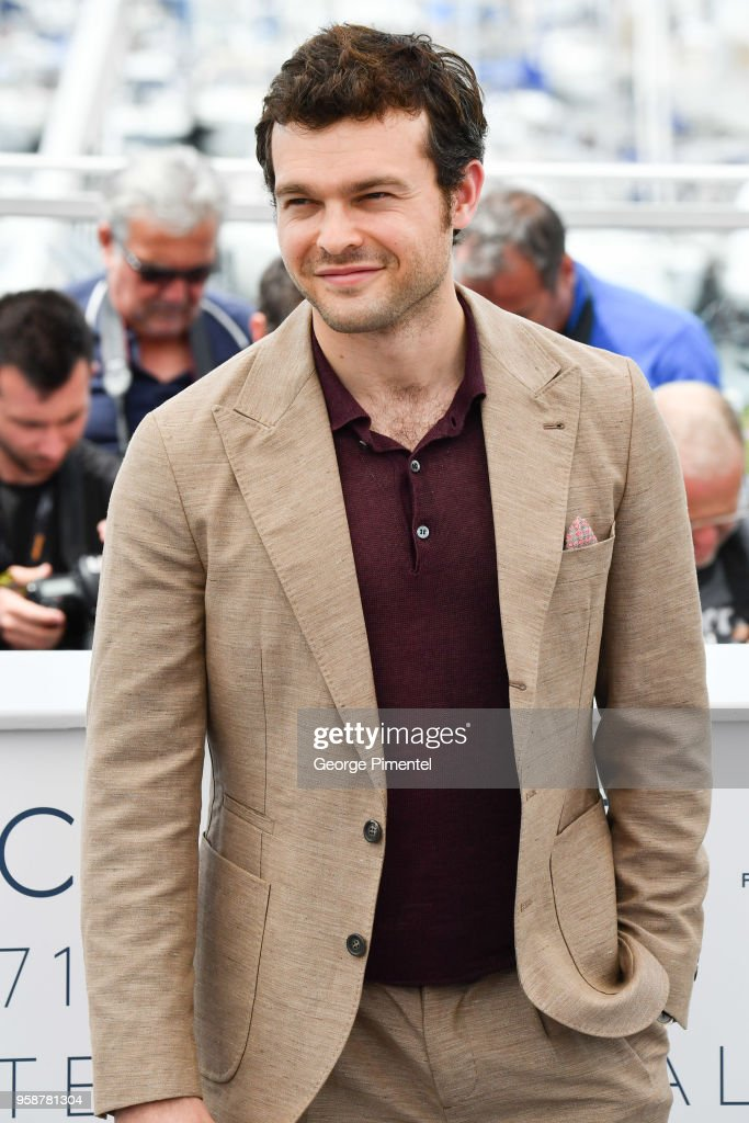 Alden Ehrenreich attends the photocall for 'Solo: A Star Wars Story' during the 71st annual Cannes Film Festival at Palais des Festivals on May 15, 2018 in Cannes, France.