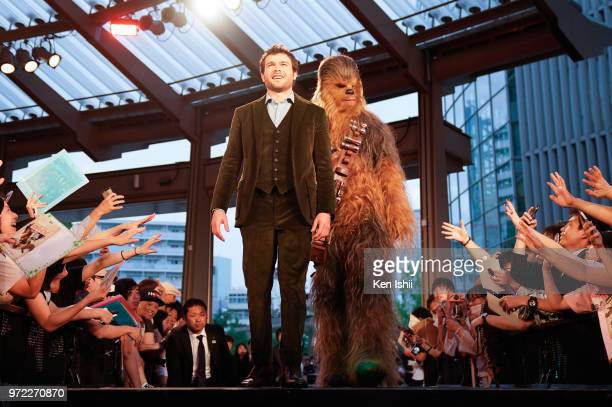 Alden Ehrenreich attends the premiere for 'Solo A Star Wars Story' at Roppongi Hills on June 12 2018 in Tokyo Japan