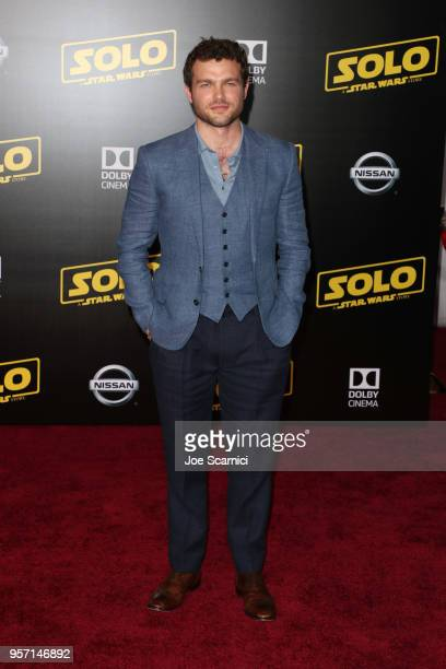 Alden Ehrenreich attends the premiere of Disney Pictures and Lucasfilm's 'Solo A Star Wars Story' at the El Capitan Theatre on May 10 2018 in...