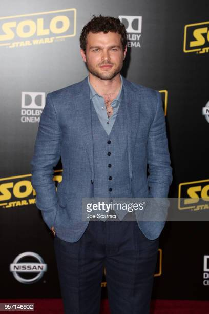 Alden Ehrenreich attends the premiere of Disney Pictures and Lucasfilm's Solo A Star Wars Story at the El Capitan Theatre on May 10 2018 in Hollywood...