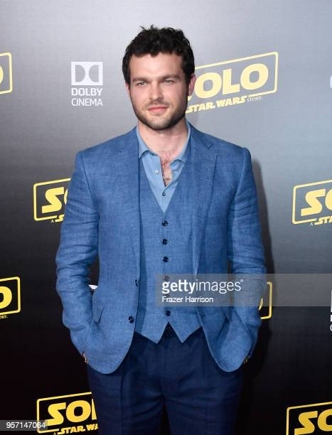 Alden Ehrenreich attends the premiere of Disney Pictures and Lucasfilm's Solo A Star Wars Story at the El Capitan Theatre on May 10 2018 in Los...