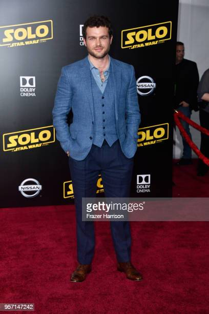 Alden Ehrenreich attends the premiere of Disney Pictures and Lucasfilm's 'Solo A Star Wars Story' at the El Capitan Theatre on May 10 2018 in Los...