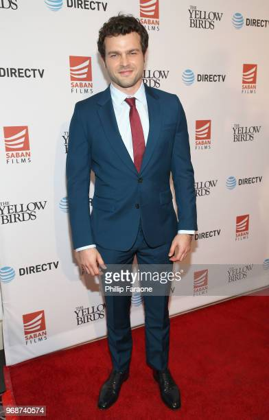 Alden Ehrenreich attends 'The Yellow Birds' premiere presented by Saban Films and DIRECTV at The London West Hollywood on June 6 2018 in West...